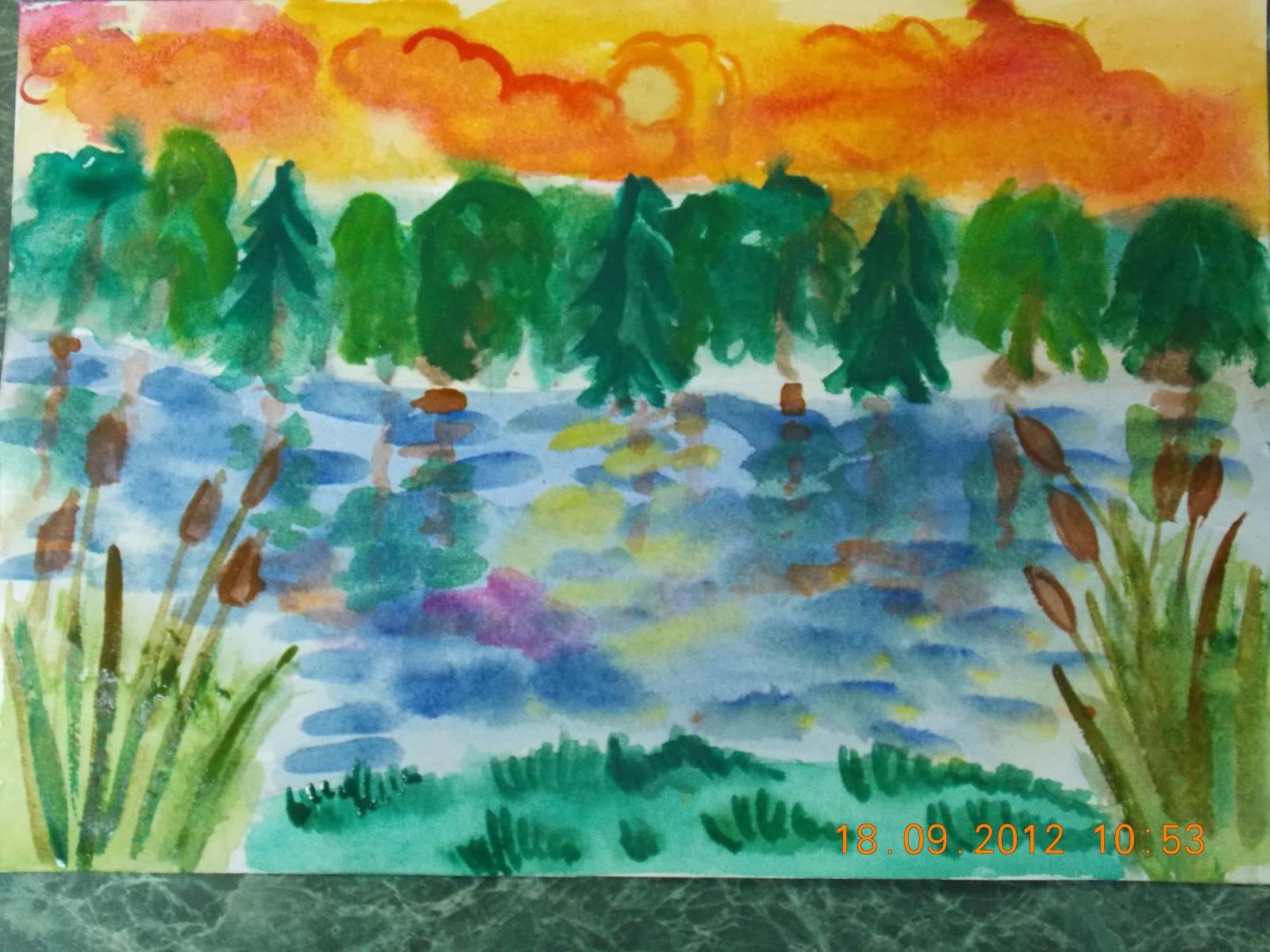 Фото рисунков красками для детей 10 лет